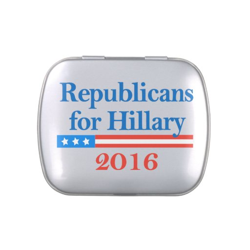 Republicans for Hillary Clinton in 2016 Candy Tin