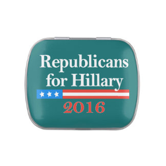 Republicans for Hillary Clinton in 2016 Jelly Belly Candy Tin