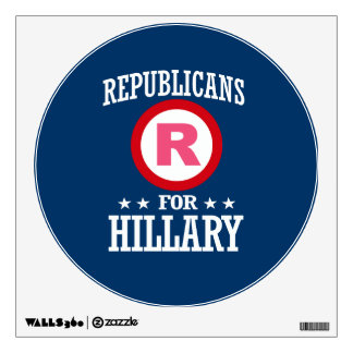 REPUBLICANS FOR HILLARY WALL STICKER