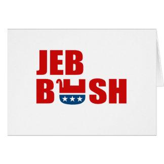 REPUBLICANS FOR JEB BUSH GREETING CARD