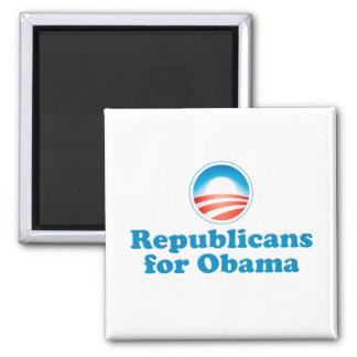 Republicans for Obama 2 Inch Square Magnet