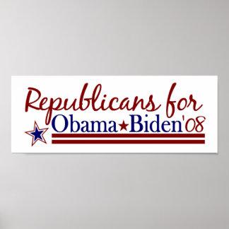 Republicans for Obama Biden Poster