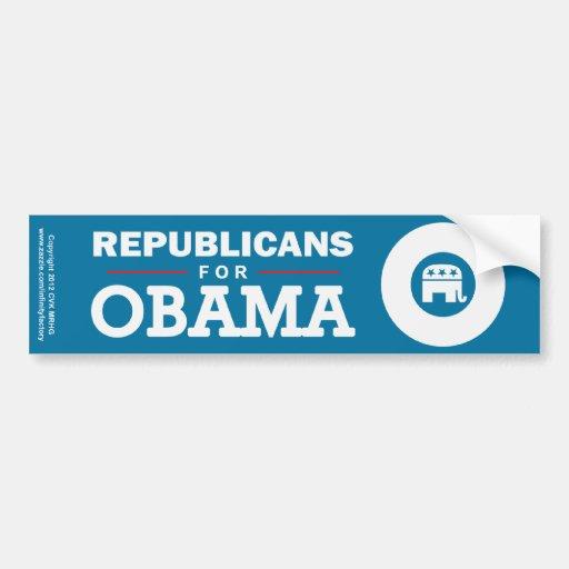 Republicans for Obama Bumper Sticker