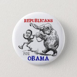 Republicans For Obama Button