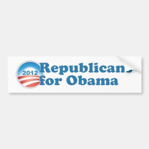 Republicans for Obama Car Bumper Sticker