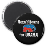 Republicans for Obama Magnets