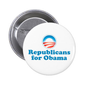 Republicans for Obama Pinback Button