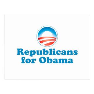 Republicans for Obama Postcard