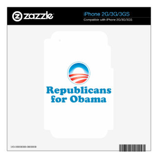 Republicans for Obama Skins For The iPhone 3