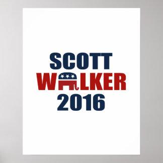 REPUBLICANS FOR SCOTT WALKER 2016 POSTER
