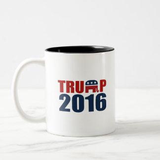 REPUBLICANS FOR TRUMP 2016 Two-Tone COFFEE MUG
