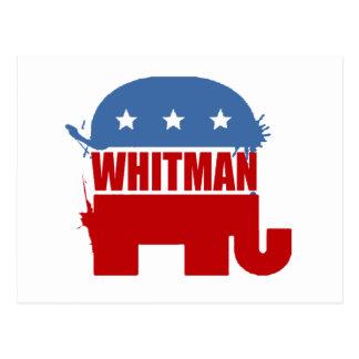 Republicans for Whitman Postcard
