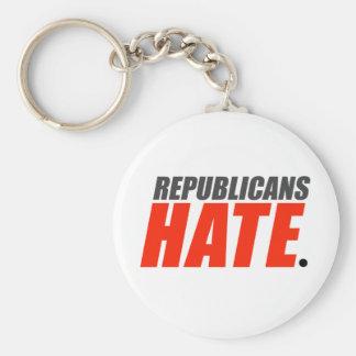 Republicans Hate Basic Round Button Keychain