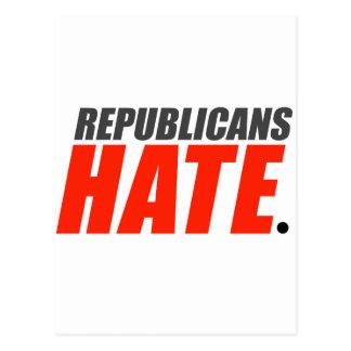 Republicans Hate Postcard