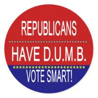 Republicans Have D.U.M.B. sticker