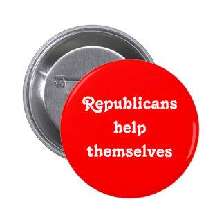 Republicans Help Themselves Button