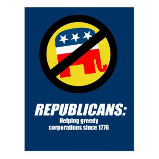 Republicans - Helping Greedy Corporations Postcard