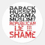 Republicans Lie Classic Round Sticker