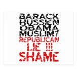 Republicans Lie Postcard