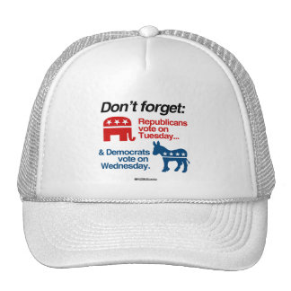 Republicans on Tuesday & Democrats on Wednesday Trucker Hat