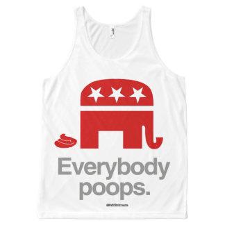 REPUBLICANS POOP Politiclothes Humor -.png All-Over Print Tank Top