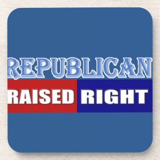 REPUBLICANS - RAISED RIGHT COASTER
