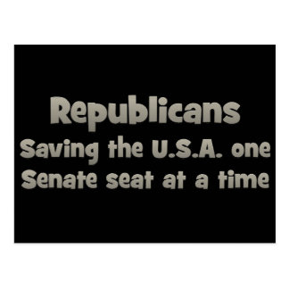 Republicans - Saving the country Postcard