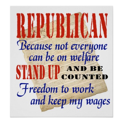 Republicans Stand Up! Poster