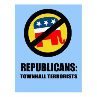 Republicans - Townhall Terrorists Postcard