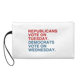 REPUBLICANS VOTE ON TUESDAY WRISTLET CLUTCH