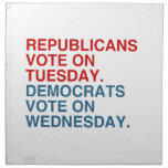 REPUBLICANS VOTE ON TUESDAY NAPKINS