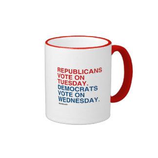 REPUBLICANS VOTE ON TUESDAY RINGER COFFEE MUG