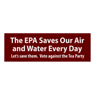 Republicans Want to Shut Down the EPA? Double-Sided Mini Business Cards (Pack Of 20)