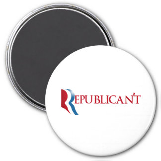 Republican't 3 Inch Round Magnet