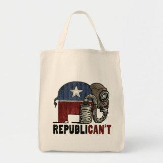 RepubliCAN'T Anti_GOP Grocery Tote Bag