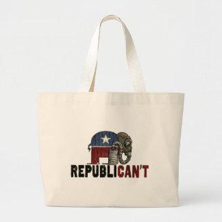 RepubliCAN'T Anti_GOP Jumbo Tote Bag