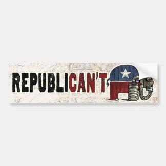 RepubliCAN'T Anti_GOP Car Bumper Sticker