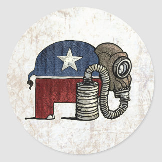 RepubliCAN'T Anti_GOP Classic Round Sticker