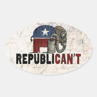 RepubliCAN'T Anti_GOP Oval Sticker