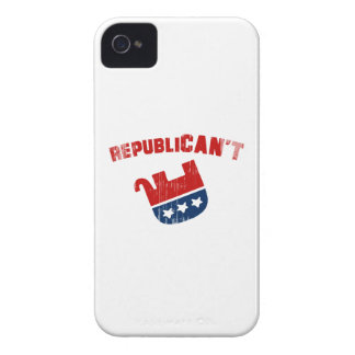 Republican't - Faded.png Case-Mate iPhone 4 Cárcasas