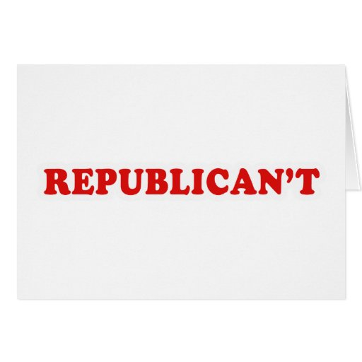 Republicant Greeting Card