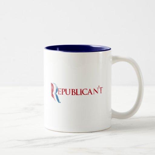 Republican't.png Two-Tone Coffee Mug