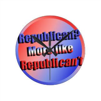 Republicant Round Clock