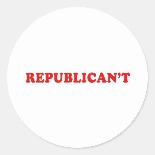 Republicant Round Sticker