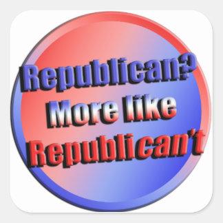 Republicant Square Sticker