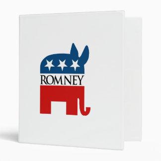 Republicrat Romney Vinyl Binder