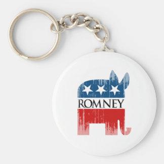 Republicrat Romney.png Basic Round Button Keychain