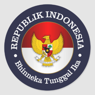 Republik Indonesia Classic Round Sticker
