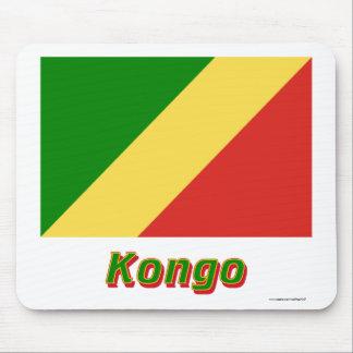 Republik Kongo Flagge mit Namen Mouse Pad