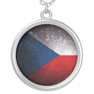 Republika de Česká; Bandera checa Colgante Redondo